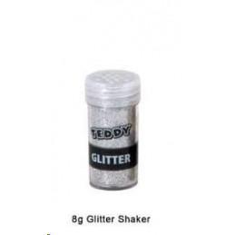 Teddy Glitter Shaker Silver 8g