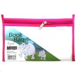 Meeco Book Bag Zip A5 Pink