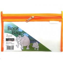 Meeco Book Bag Zip A5 Orange