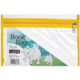 Meeco Book Bag Zip A5 Yellow