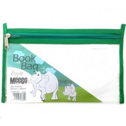Meeco Book Bag Zip A5 Green