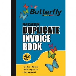 Butterfly A5 Duplicate Invoice