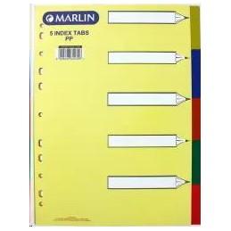 Marlin Index File A4 5 Tab...